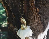 Orange blossom charm necklace, #400