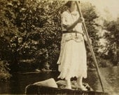 1920's Summer Photo - Woman Punting