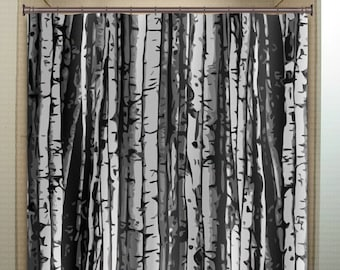 Curtains Ideas birch tree curtains : Grey tree curtain | Etsy