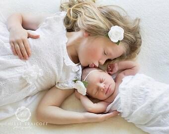 White Baby Headband, Baby Headband, Baby Flower Headband, Felt Flower Headband, Felt Baby Headband, Newborn Headband, Toddler Headband