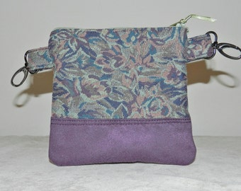 Hip Pouch,  Fanny Pack,  Purple Tapestry...Great for shopping, flea markets, festivals, field trips.  Anytime you want your hands free!