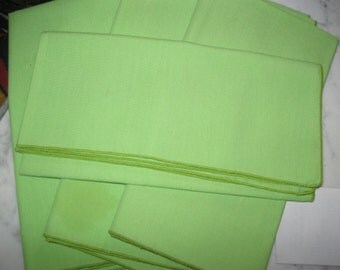 Vintage Napkins Set of Four, Lime Green, Luncheon