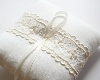 Lace Ring Pillow, Ring Bearer Pillow