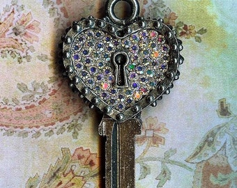 key to my heart key blank she can have cut to open her own door...or yours