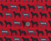 Rescue Me ! Have a Heart Adopt Dog Cat I Spy Dogs Cats Fabric By the Fat Quarter BTFQ