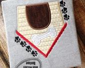 Dog House applique embroidery design