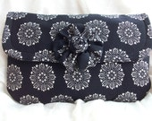 Classic Black and White Evening Bridesmaid Wedding Prom Clutch Purse RESERVED FOR AMELIA