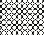 Metro Living Fabric by Robert Kaufman, Rings in White, 1 Yard Total