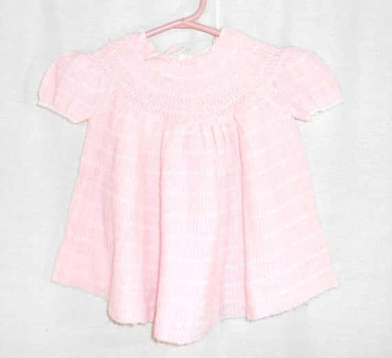 Baby Clothes Baby Girls Dress Pink Crochet  Dress