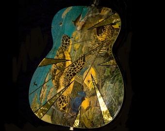 Underwater Sea Turtle Guitar