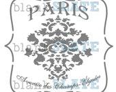 Champs Elysees Stencil - 12x12