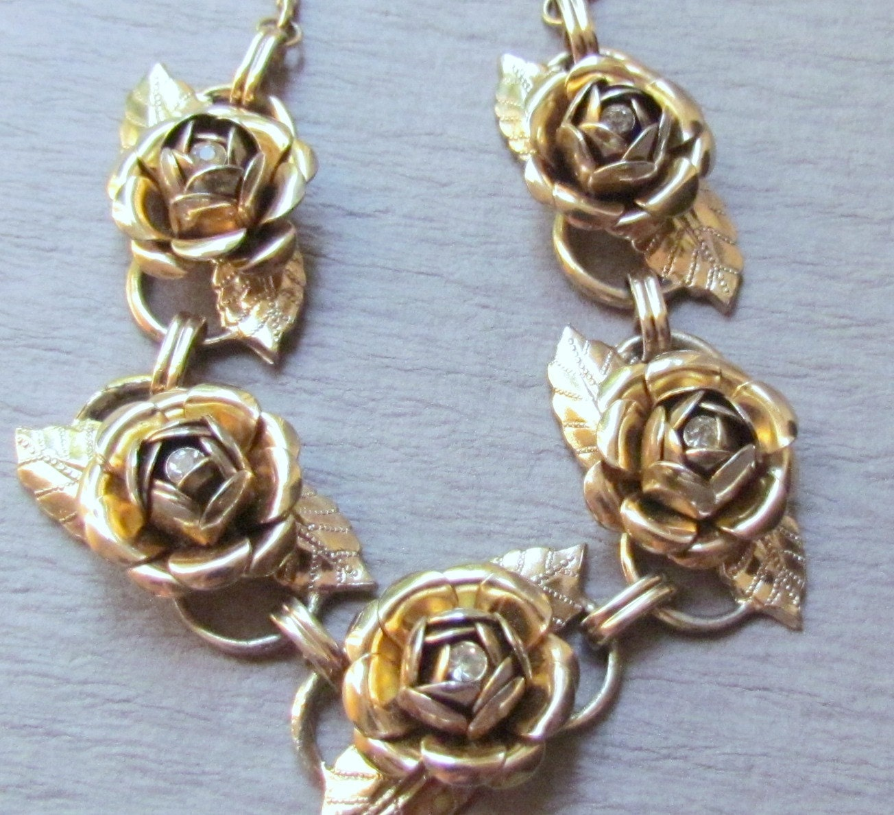 Vintage Rose Necklace 92