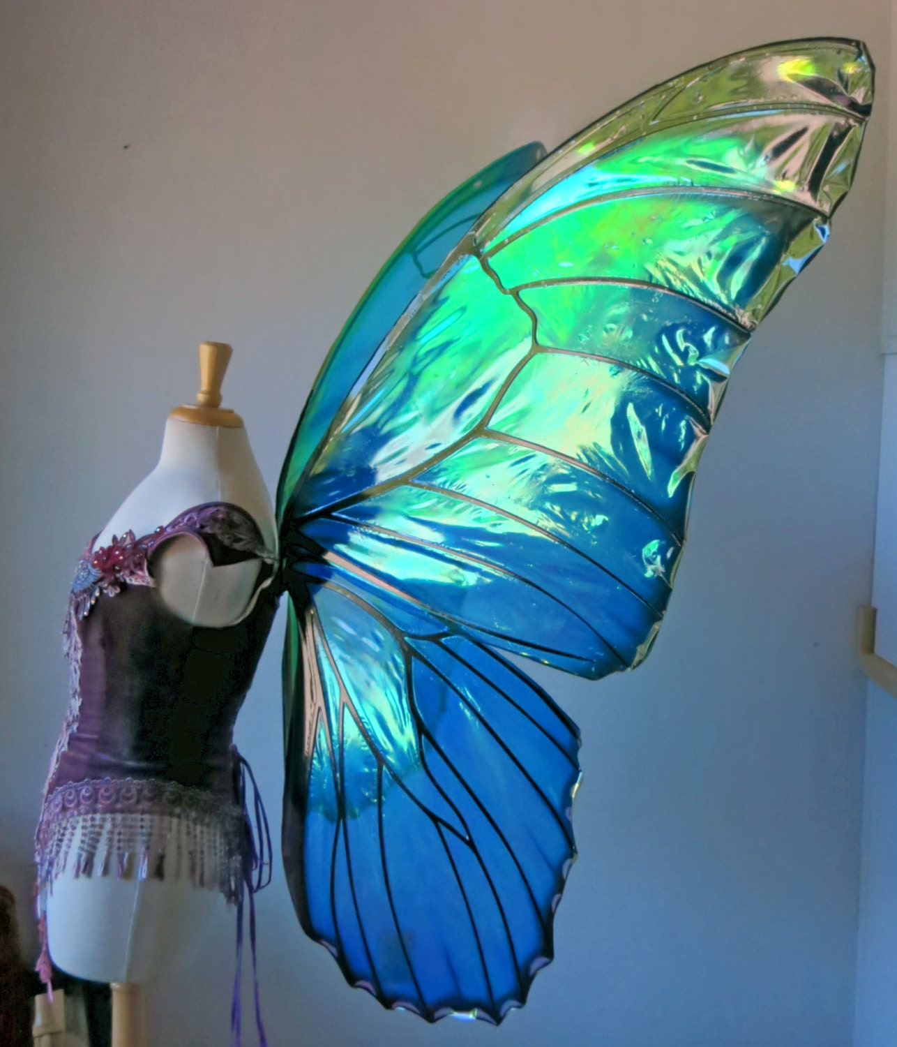 Giant Butterfly Wings Costume GIANT Morpho Butterfly...