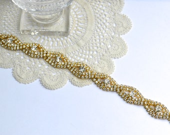Golden Bridal Sash, Bridesmaid Belt,Gold Wedding Belt,Gold Wedding Sash,Golden Bridal Belt,Rhinestone Sash,Rhinestone Belt,Gold Crystal Sash