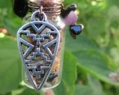 Men's Empath Energy Protection Shield, Grounding Energy Spell Bottle,Empath Energy Amulet, Witchcraft Wiccan Pagan Witch,Made to Order