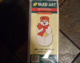 Yard Art ~ Mrs.Chip Snowman Wood Pattern
