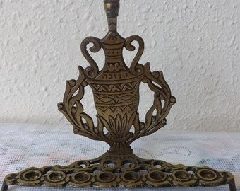 vintage menorah 1960s /solid brass menorah / made in Israel. Free fast Shipping!!!