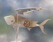 Steampunk Flying Fish Automaton