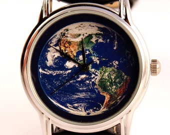 Watch The Earth, unisex watch, women watch, mens wrist watch