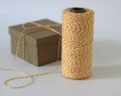 Yellow & White Bakers Twine - 10 metres - Perfect for gift wrapping and crafts