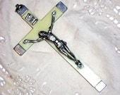 Religious Beautiful Vintage Ivory Cross Crucifix