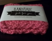 Hand Crocheted Washcloth/Dishcloth - 100% Cotton - Hot Pink