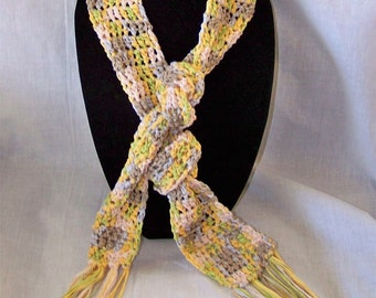 Lightweight Ribbon Scarf Yellow Blue Gray Cream Green Spring Scarf Summer Scarf