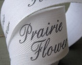 Twill Fabric Labels, one and one-quarter inch ribbon - uncut, spool - natural or white