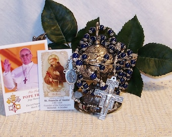 Saint Francis, Pope Francis Full-Size Catholic Rosary - Patron Saint of Animals, Ecology, Environmentalists and Peace