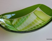 Fused Glass Bowl in Green