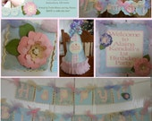 Shabby Chic Flower 1st Birthday Party Package