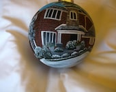 Custom Hand Painted  Glass Ornaments - Featuring Your Special Home
