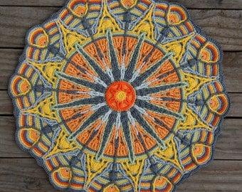 Crochet Overlay Mandala  No. 6, Pattern, PDF in Englis, Deutsch