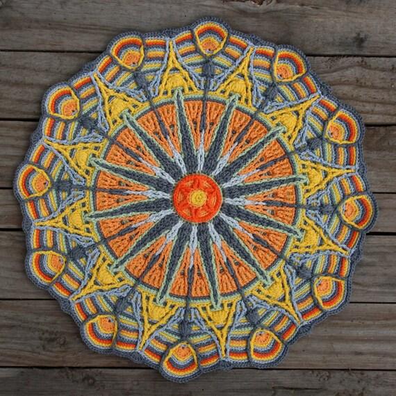 Crochet Overlay Mandala No 6 Pattern Pdf In Englis