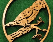 Wood Parrot Ornament