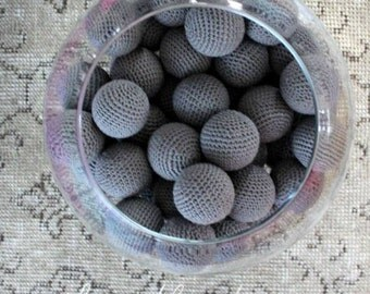 Big Dark Grey Balls 6 Pcs (Without Holes)