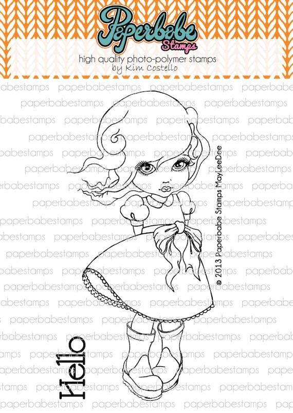 MayLeeDee - Paperbabe Stamps - photopolymère tampons transparents - pour papier d'artisanat et de scrapbooking.