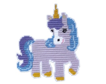 PDF FORMAT Plastic Canvas My Little Unicorn Wall Hanging                           Instant Download