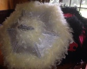 CHarris 861 Wedding Second Line Umbrellas Customized and Monogramming for Bride and Groom...Also a Mask for Bride