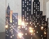 Extra large New York skyline silhouette
