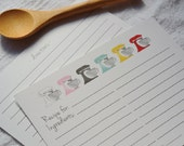 Recipe Cards: Colorful Mixers