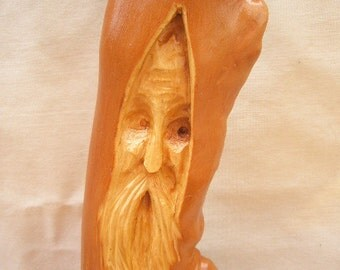 Free Shipping Tall Gnarly Wood Spirit Carving