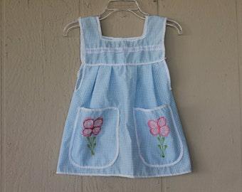 Vintage Toddler Gingham Sun Dress