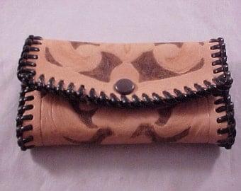 Tooled Leather Key Case