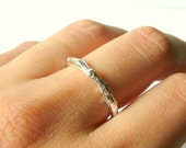 Silver branch ring sterling silver twig ring band ring sterling silver ring silver wedding band botanical nature inspired engagement ring