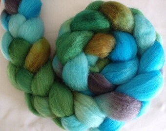 "BFL Hand Dyed Combed Top 4 Oz. ""Navajo Treasure"""