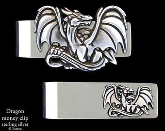 Dragon Money Clip Sterling Silver
