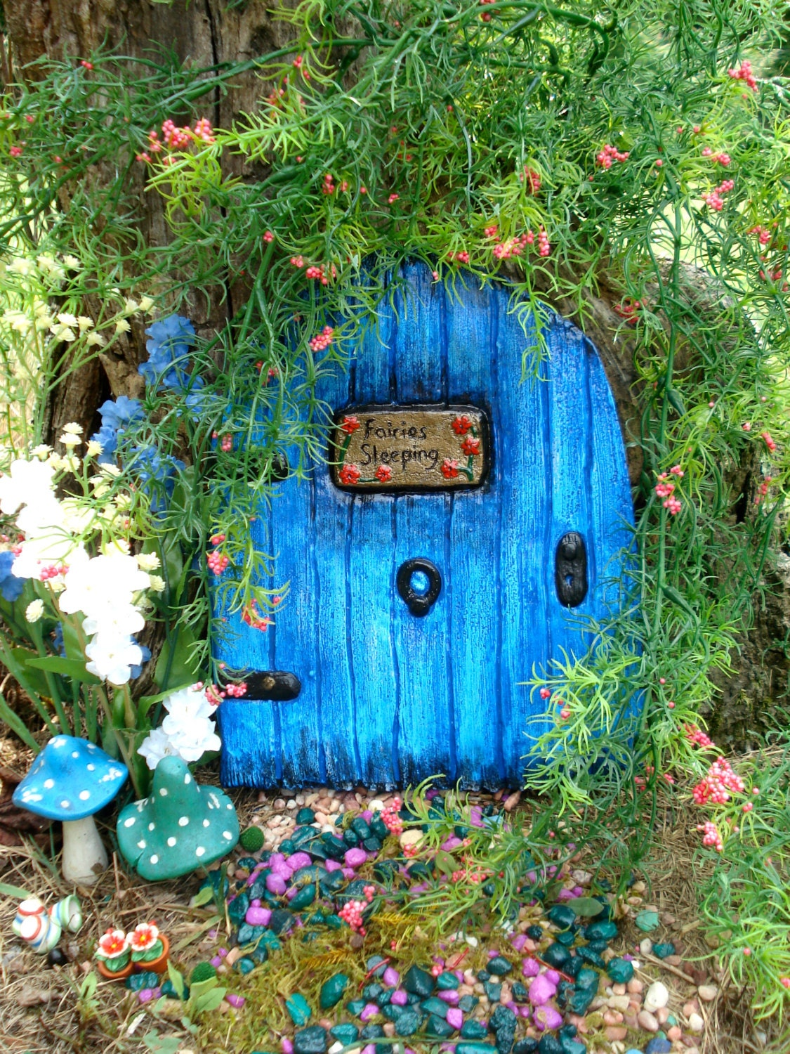 Large fairy door set fairy garden kit garden by for The works fairy door