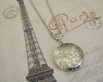 Sterling Silver Plated Locket Necklace Wedding Bride Bridesmaids Graduation Gift Wife Anniversary Sister Mother Photo Pictures - Vanessa