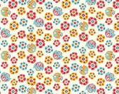 SALE 1/2 Yard Organic Cotton Fabric - Birch Frolic - Tulip Toss